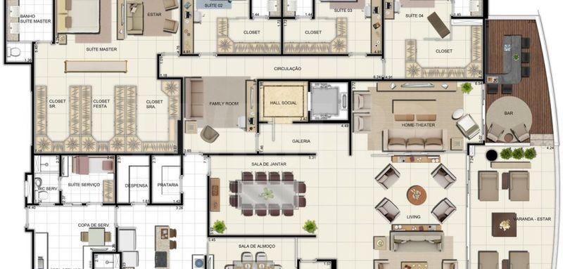 Apartamento a venda em Adrianópolis, 5 quartos - AM25001 - 14