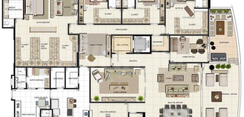 Apartamento a venda em Adrianópolis, 5 quartos - AM25001 - 16