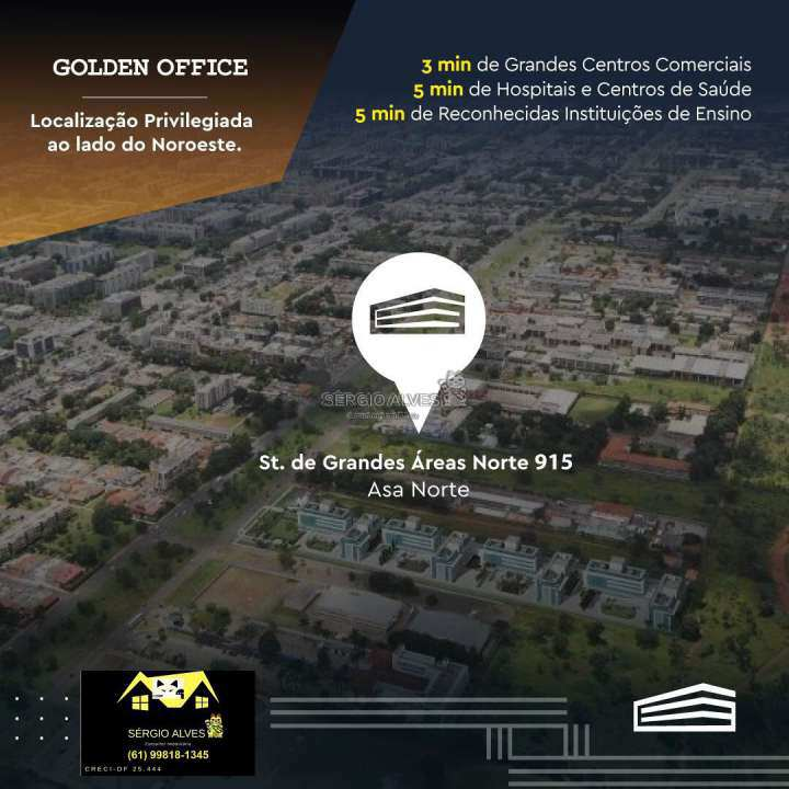 Sala Comercial 98m² à venda SCLRN 715,Brasília,DF - R$ 1.241.937 - 001GOLDEN - 16