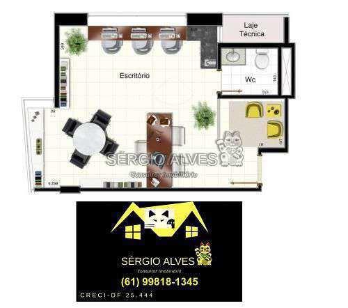 Sala Comercial 98m² à venda SCLRN 715,Brasília,DF - R$ 1.241.937 - 001GOLDEN - 17