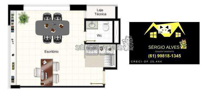 Sala Comercial 98m² à venda SCLRN 715,Brasília,DF - R$ 1.241.937 - 001GOLDEN - 20