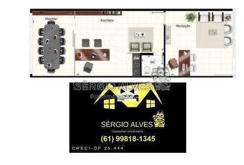 Sala Comercial 98m² à venda SCLRN 715,Brasília,DF - R$ 1.241.937 - 001GOLDEN - 21