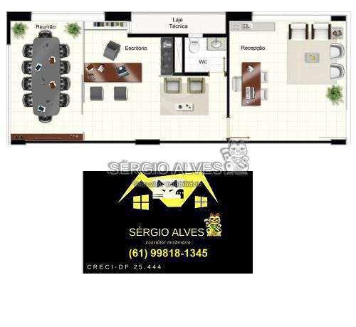 Sala Comercial 98m² à venda SCLRN 715,Brasília,DF - R$ 1.241.937 - 001GOLDEN - 22