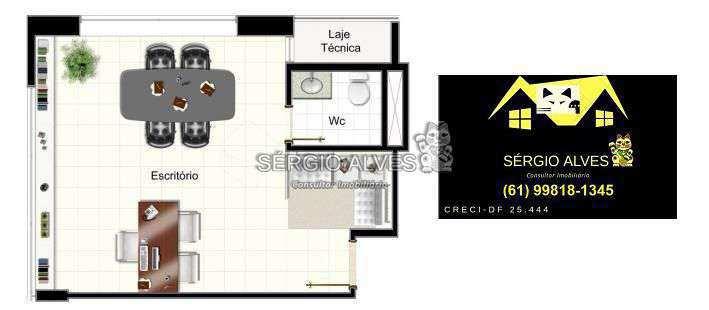 Sala Comercial 31m² à venda SCLRN 715,Brasília,DF - R$ 318.160 - 002GOLDEN - 20